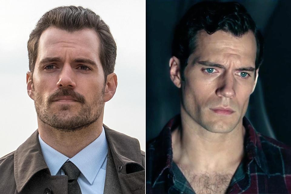 Henry Cavill as August Walker Mission: Impossible – Fallout and as Clark Kent (AKA Superman)