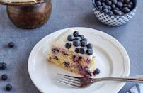 """<p>You don't have to give up eating yummy cakes because you don't eat gluten. You can still enjoy a moist and soft blueberry cake, which uses gluten-free flour.</p> <p><a href=""""https://www.thedailymeal.com/recipes/gluten-free-lemon-blueberry-cake-recipe?referrer=yahoo&category=beauty_food&include_utm=1&utm_medium=referral&utm_source=yahoo&utm_campaign=feed"""" rel=""""nofollow noopener"""" target=""""_blank"""" data-ylk=""""slk:For the Gluten-Free Lemon Blueberry Cake recipe, click here."""" class=""""link rapid-noclick-resp"""">For the Gluten-Free Lemon Blueberry Cake recipe, click here.</a></p>"""