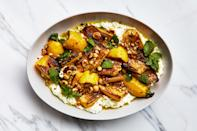 """This summer squash salad is way more exciting and flavor-packed than your usual 4th of July sides. <a href=""""https://www.epicurious.com/recipes/food/views/marinated-summer-squash-with-hazelnuts-and-ricotta?mbid=synd_yahoo_rss"""" rel=""""nofollow noopener"""" target=""""_blank"""" data-ylk=""""slk:See recipe."""" class=""""link rapid-noclick-resp"""">See recipe.</a>"""