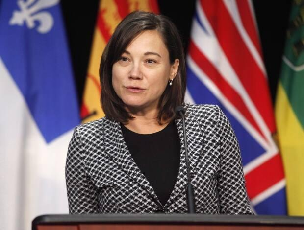 MLA Shannon Phillips, seen here in a file photo, was surveilled by members of the Lethbridge Police Service and new letters suggest she and a CBC journalist were the subject of possible retaliation plans.  (Patrick Doyle/The Canadian Press - image credit)