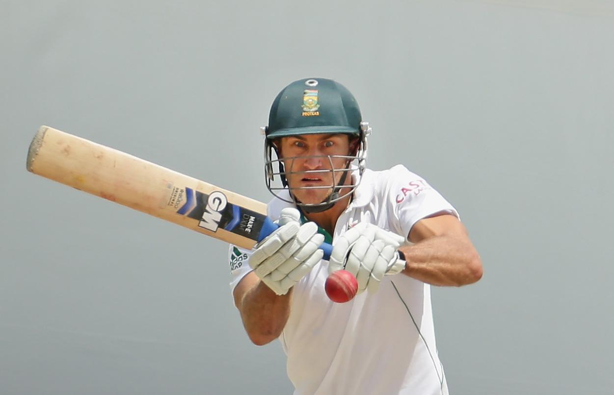 ADELAIDE, AUSTRALIA - NOVEMBER 26:  Faf du Plessis of South Africa bats during day five of the Second Test Match between Australia and South Africa at Adelaide Oval on November 26, 2012 in Adelaide, Australia.  (Photo by Scott Barbour/Getty Images)