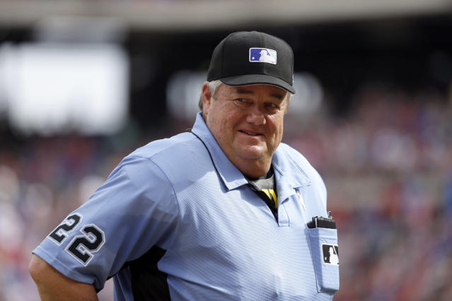 Joe West is climbing up the all-time umpiring lists. (AP Photo)