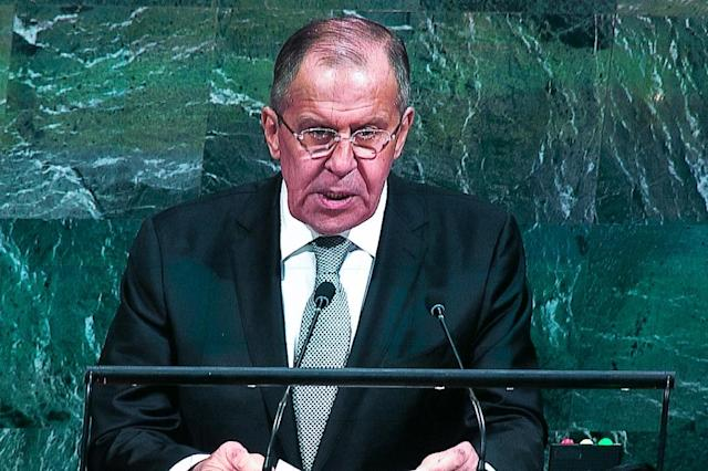 Russian Foreign Minister Sergei Lavrov said the crisis could only be solved with 'caresses, suggestion and persuasion' (AFP Photo/Kevin Hagen)