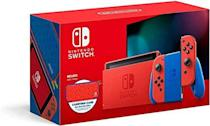 """<p><strong>Nintendo</strong></p><p>amazon.com</p><p><strong>$398.00</strong></p><p><a href=""""https://www.amazon.com/dp/B08M8YQMH4?tag=syn-yahoo-20&ascsubtag=%5Bartid%7C2140.g.33902097%5Bsrc%7Cyahoo-us"""" rel=""""nofollow noopener"""" target=""""_blank"""" data-ylk=""""slk:Shop Now"""" class=""""link rapid-noclick-resp"""">Shop Now</a></p><p>This is a no-brainer for the teenager in your life who is obsessed with video games. </p>"""