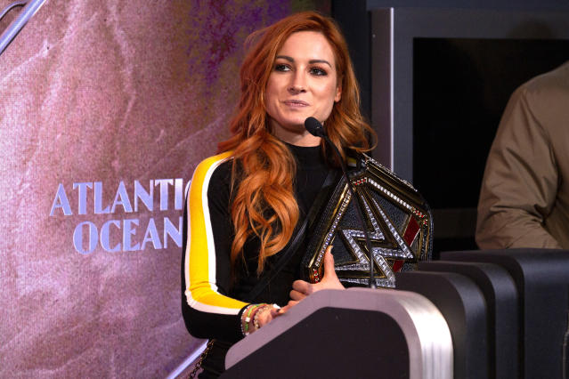 WWE superstar Becky Lynch is taking shots at Ronda Rousey and asking for a one-on-one match. (Getty Images)