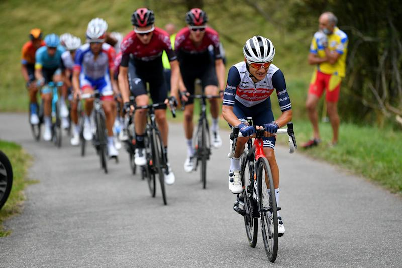 SARRANCOLIN FRANCE AUGUST 03 Kenny Elissonde of France and Team Trek Segafredo during the 44th La Route dOccitanie La Depeche du Midi 2020 Stage 3 a 1635km stage from Saint Gaudens to Col de Beyrde 1417m RouteOccitanie RDO2020 on August 03 2020 in Sarrancolin France Photo by Justin SetterfieldGetty Images