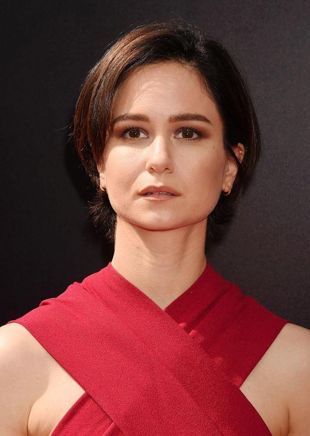 "Katherine Waterston in  <span title=""Edited"">Proenza Schouler. </span>(Photo: Getty Images)"