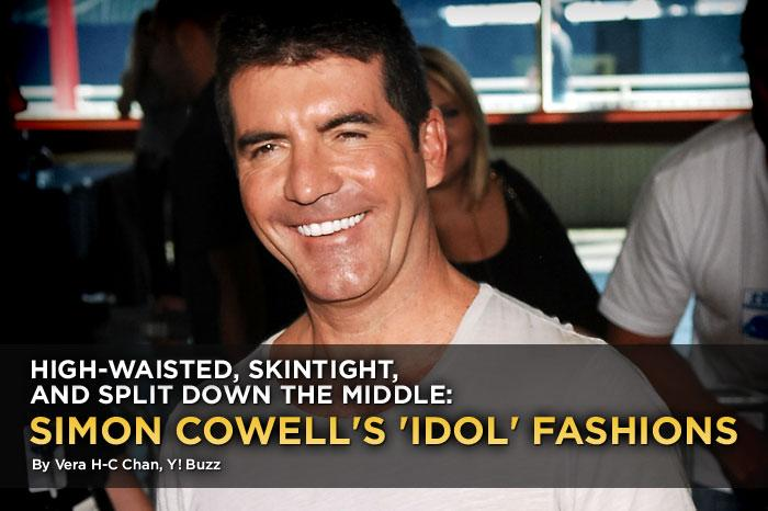 """<a href=""""http://www.americanidol.com/photos/season_9/idol_alumni/simon_cowell_through_the_years/"""" rel=""""nofollow"""">In nine seasons</a> as an """"<a href=""""/american-idol/show/34934"""">American Idol</a>"""" judge, Simon Cowell proved to be a timeless classic in clinging T-shirts, high-waisted pants, and a thatch of hair that could scour a pot. But really, did he need anything more? His insults could turn karaoke queens into raging furies, and his praise could get a crowd whooping and hollering. Everyone likes the """"Idol"""" Cinderella story, but millions also tuned in to watch Simon cut through false bravado, unfeeling melodies, and panicked warbling with a machete precision. So why doesn't he dress as sharply as he speaks? <a href=""""http://www.people.com/people/simon_cowell/biography/0,,,00.html"""" rel=""""nofollow"""">Rebellious</a> as a teen and <a href=""""http://www.people.com/people/simon_cowell/biography/0,,,00.html"""" rel=""""nofollow"""">conniving</a> as an adult, Simon reveled in his early career as a fast-track mogul, swigging Dom Pérignon, driving a Porsche, and wearing Armani and Versace. But when he crashed and burned and had to move back in with mum and dad, the crushing humiliation of failure and debt stamped a lasting fashion legacy. In any case, what Simon wears best is arrogance. Take a look at his monochromatic rainbow over the years."""