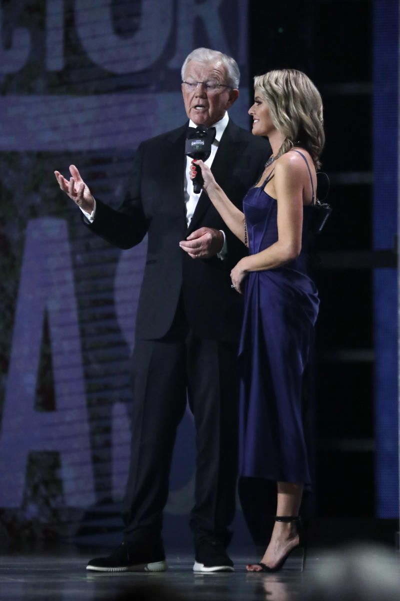 Joe Gibbs honored with NASCAR's award of excellence