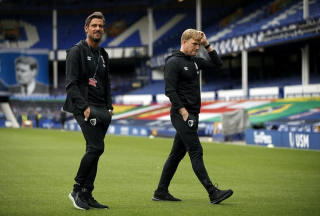 Jason Tindall, left, has a hard act to follow in Eddie Howe