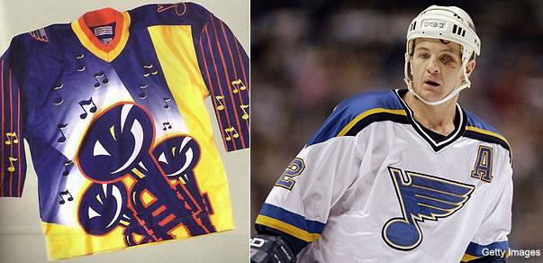 St. Louis Blues  3rd jersey features Arch 130129ab6
