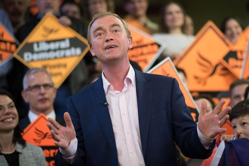 The Lib Dem leader criticised Jeremy Corbyn's leadership: PA