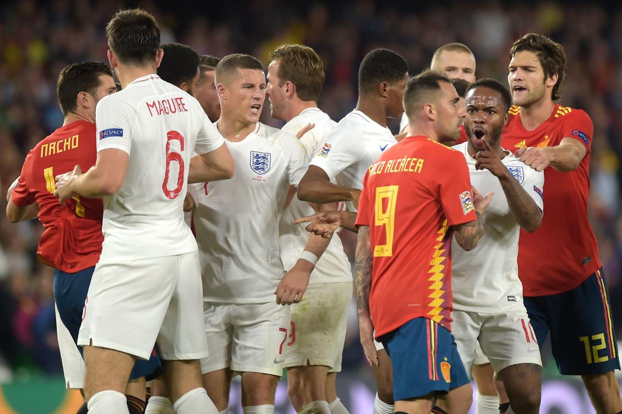Tempers threatened to boil over as the pressure ramped up in the second half