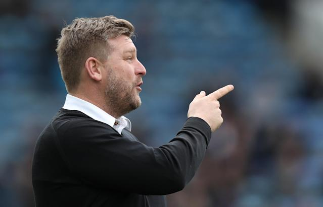 """Soccer Football - League One - Portsmouth vs Oxford United - Fratton Park, Portsmouth, Britain - March 25, 2018 Oxford United manager Karl Robinson before the match Action Images/Peter Cziborra EDITORIAL USE ONLY. No use with unauthorized audio, video, data, fixture lists, club/league logos or """"live"""" services. Online in-match use limited to 75 images, no video emulation. No use in betting, games or single club/league/player publications. Please contact your account representative for further details."""