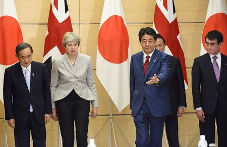 British Prime Minister arrives in Japan to discuss trade, North Korea