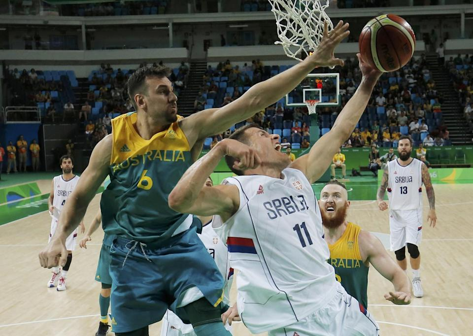 Andrew Bogut wasn't sure he was going to recover fast enough to play in the Olympics. (Reuters)