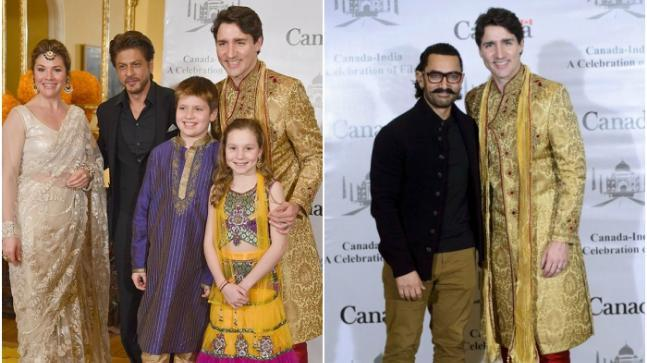 Justin Trudeau met the who's who of Bollywood during his visit to Mumbai on Tuesday.