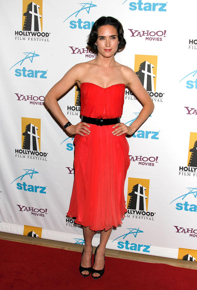 "<a href=""http://movies.yahoo.com/movie/contributor/1800021142"">Jennifer Connelly</a> at the Hollywood Film Festival's Hollywood Awards in Beverly Hills - 10/22/2007"