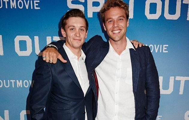 Travis and Lincoln at the premiere screening of Spin Out in Sydney on September 12. Source: Supplied