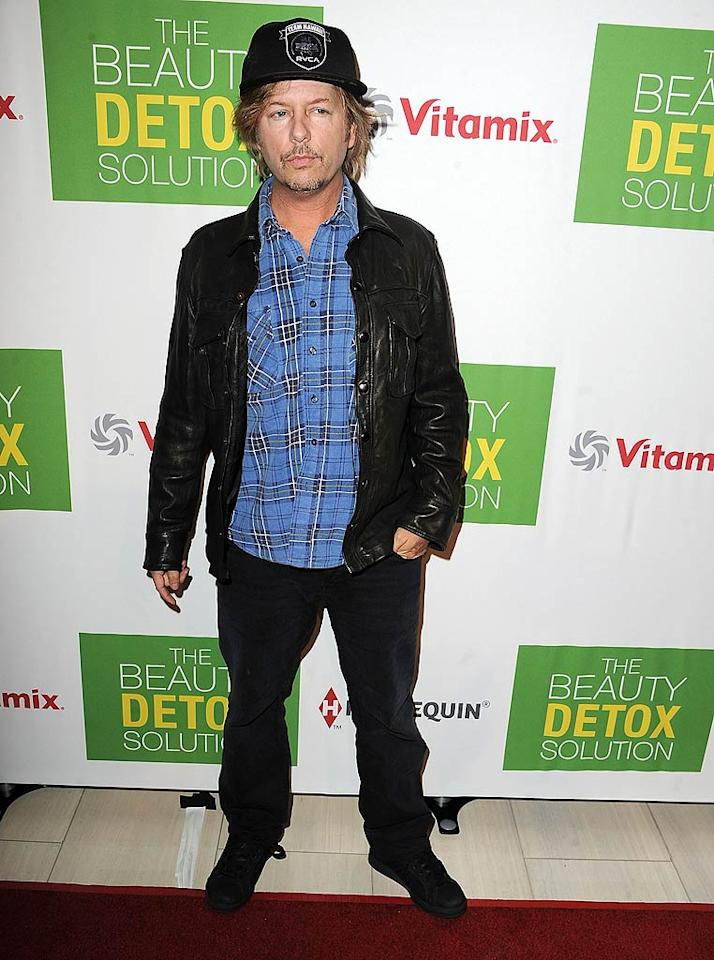 "Random celeb of the night at the book launch? David Spade, who looked like he could use a good beauty detox himself! Steve Granitz/<a href=""http://www.wireimage.com"" target=""new"">WireImage.com</a> - April 11, 2011"