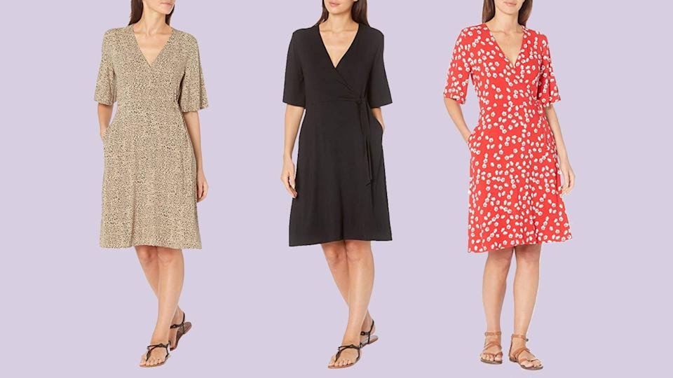 This v-neck dress even has pockets—count us in. (Photo: Amazon)
