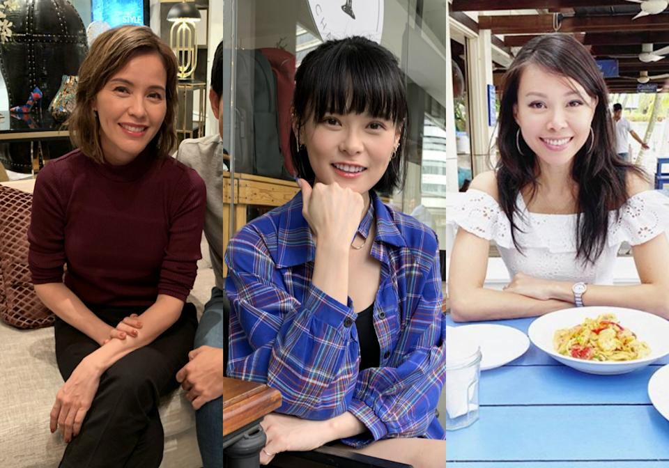 (Left to right) Zoe Tay, Jayley Woo and Jamie Yeo were among the most-searched female celebrities in Singapore on Yahoo. (PHOTOS: Yahoo Lifestyle, Jamie Yeo/Instagram)