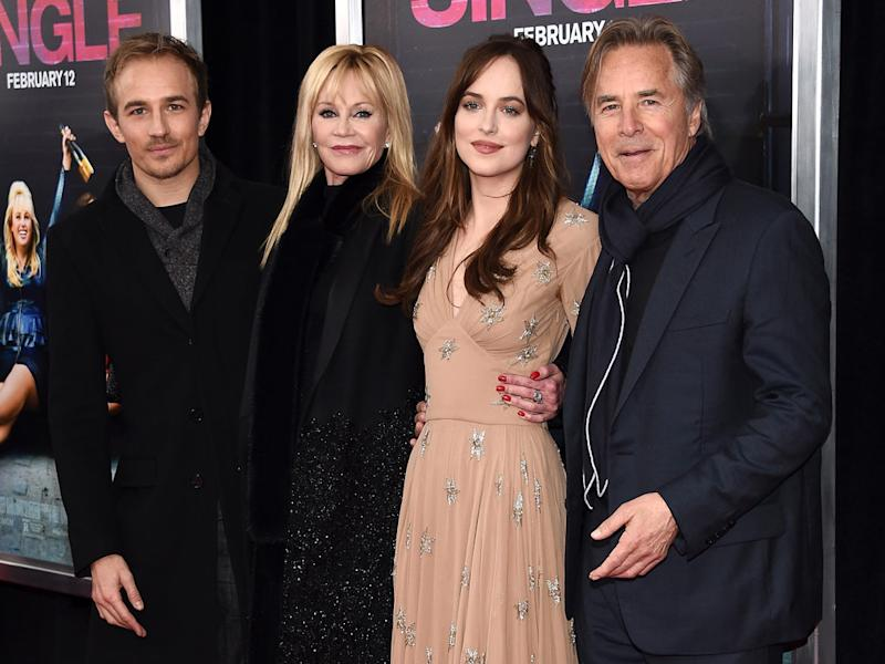 Melanie griffith and don johnson support daughter dakota johnson at melanie griffith and don johnson support daughter dakota johnson at how to be single premiere in nyc ccuart