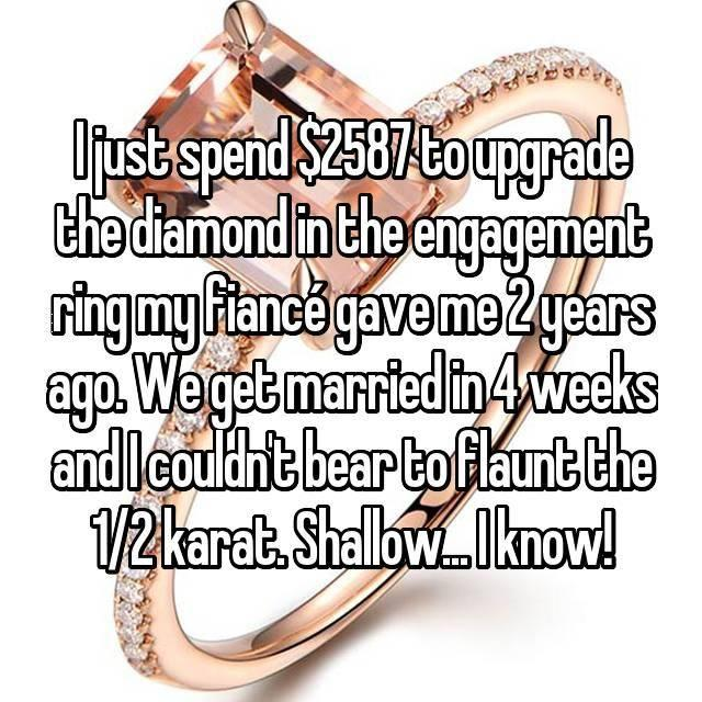This woman upgraded even before the wedding. Photo: Whisper.com