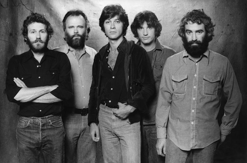 The Band (Levon Helm, Garth Hudson, Robbie Robertson, Rick Danko and Richard Manuel) in 1978. (Photo by Ed Caraeff/Getty Images)
