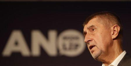 The leader of ANO party Andrej Babis speaks during a news conference at the party's election headquarters after the country's parliamentary elections in Prague