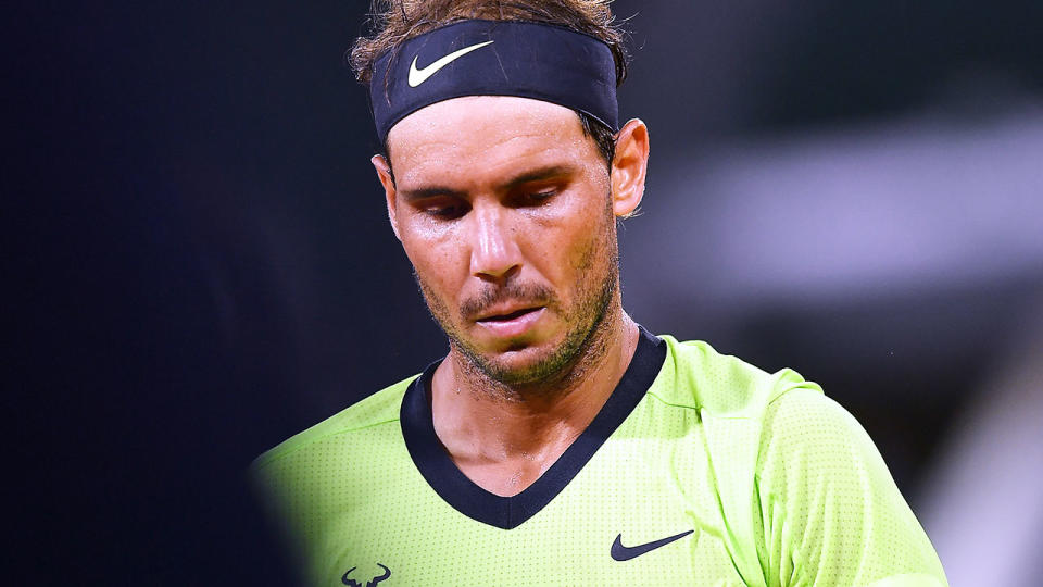 Rafael Nadal, pictured here in action against Richard Gasquet at the French Open.