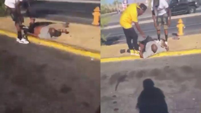 The Las Vegas police arrested a 28-year-old man who they say livestreamed himself goading a homeless man into doing a backflip for $6.