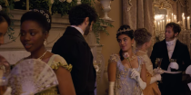 """<p>Many have dubbed <em>Bridgerton</em> the next hit show to """"colorblind cast,"""" but showrunner Chris Van Dusen doesn't agree with that terminology. """"That would imply that color and race were never considered,"""" Van Dusen told <a href=""""https://www.nytimes.com/2020/12/18/arts/television/bridgerton-netflix-shonda-rhimes.html?smtyp=cur&smid=tw-nytimes"""" rel=""""nofollow noopener"""" target=""""_blank"""" data-ylk=""""slk:The New York Times"""" class=""""link rapid-noclick-resp""""><em>The New York Times</em></a>. """"When color and race are part of the show."""" The show sits in an alternative reality of sorts, inspired by Queen Charlotte being England's first queen of mixed race in real life. """"It made me wonder what that could have looked like,"""" he said. """"Could she have used her power to elevate other people of color in society? Could she have given them titles and lands and dukedoms?""""</p>"""
