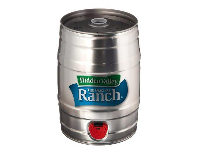 "Buy the <a href=""https://www.flavourgallery.com/collections/hidden-valley-ranch/products/hidden-valley-ranch-keg"" target=""_blank"">mini ranch keg</a> for $50"