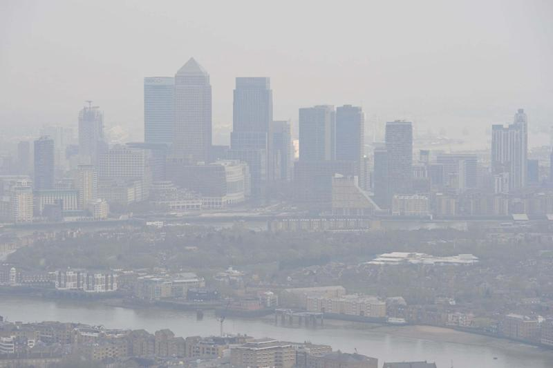 Toxic air hangs over London (PA)