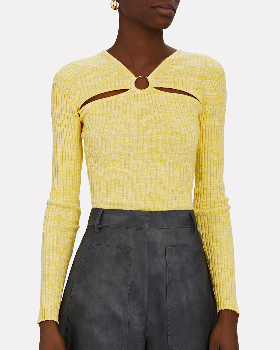 """<h2>Cutouts</h2><br>""""After living in sweats and oversized clothes last year, we are seeing a ton of unique cutouts in knitwear and dresses for the upcoming season. We can't wait to get our sexy back in 2021!""""<br><br>-Divya Mathur, Intermix Chief Merchant<br><br><br><br><strong>Anna Quan</strong> Laila Rib Knit Cut-Out Top, $, available at <a href=""""https://go.skimresources.com/?id=30283X879131&url=https%3A%2F%2Fwww.intermixonline.com%2Fanna-quan%2Flaila-rib-knit-cut-out-top%2F32.33.LM.html"""" rel=""""nofollow noopener"""" target=""""_blank"""" data-ylk=""""slk:Intermix"""" class=""""link rapid-noclick-resp"""">Intermix</a>"""
