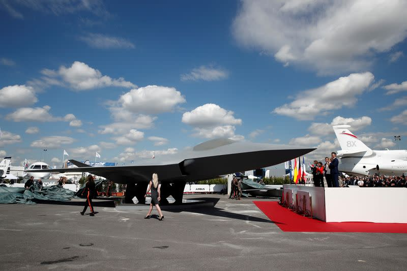 FILE PHOTO: Unveiling of the French-German-Spanish new generation fighter model near Paris in 2019
