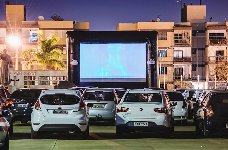 drive-in, open air cinema