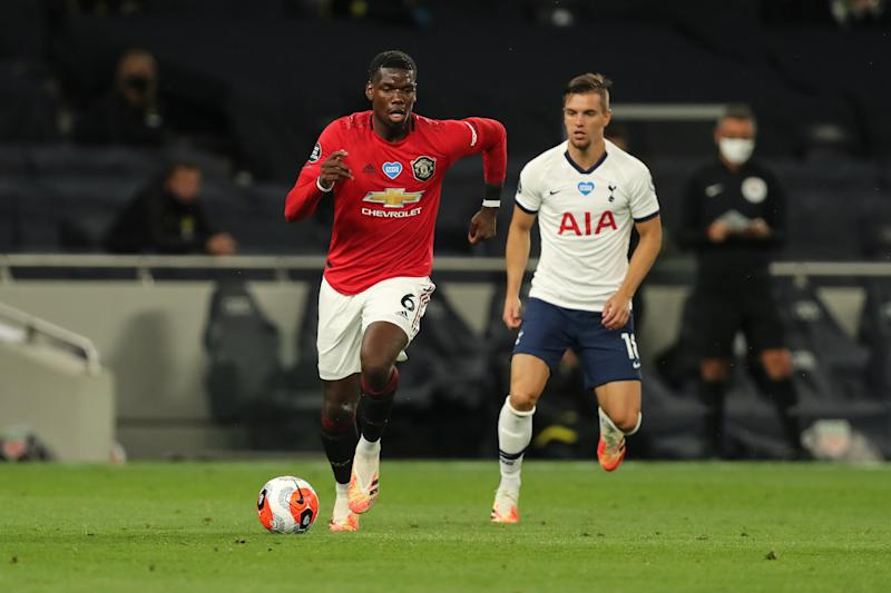 In his first Premier League appearance since December, Paul Pogba came off the bench and drew the penalty that earned Manchester United a point at Tottenham Hotspur. (Photo by Matthew Ashton - AMA/Getty Images)
