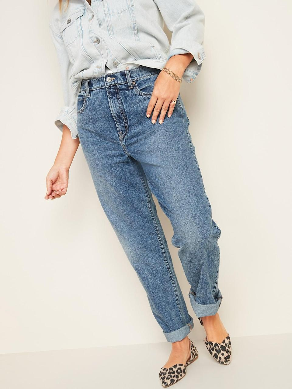 <p>These <span>Old Navy Extra High-Waisted Sky-Hi Straight Rigid Jeans</span> ($38, originally $40) are perfect for running errands or hanging around the house.</p>