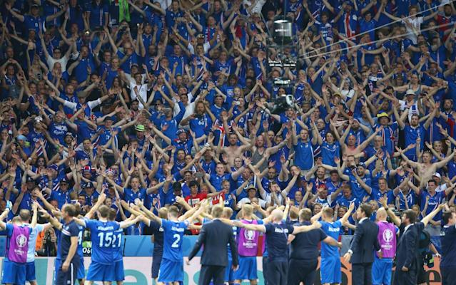 Iceland supporters after their victory over England at Euro 2016 - Getty Images Sport