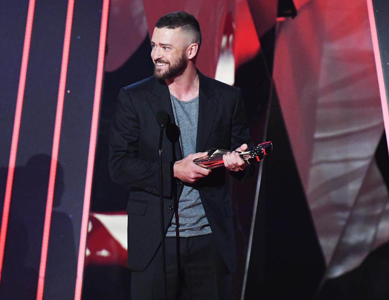 """<p>After warming hearts at the Teen Choice Awards last August, Timberlake was back at it again when he won the Song of the Year Award for """"Can't Stop the Feeling."""" After stepping on stage to accept the trophy, he <a rel=""""nofollow"""" href=""""http://www.instyle.com/syndication/2017-iheartradio-music-awards-justin-timberlake-wins-inspiring-speech"""">talked about celebrating diversity</a>, saying, """"I wrote the song because I wanted it to be about inclusion, about being together."""" He added, """"I want to take this opportunity to speak to young people right now, because there's a lot of you looking at me. If you are black or brown, if you are gay, or are you are lesbian, or you are trans ... or maybe you're just a sissy singing boy from Tennessee. Anyone who is treating you unkindly is only because they are afraid ... they have been taught to be afraid of how important you are. Because being different means you make the difference. So f--k 'em.""""</p>"""
