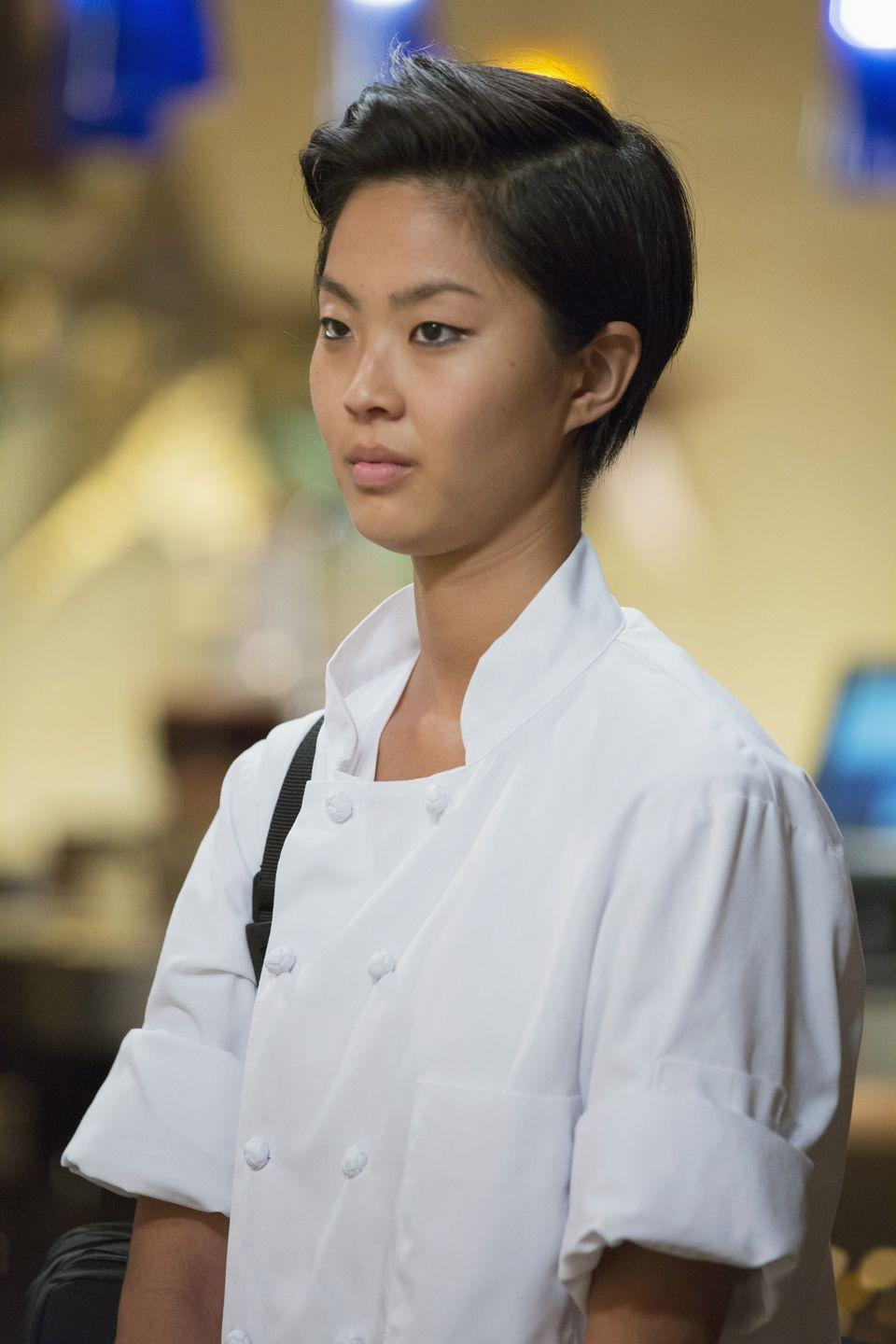 <p>After attending Le Cordon Bleu in Chicago and working in numerous restaurants as Chef de Cuisine, Kristen Kish became the second woman to win the <em>Top Chef </em>title when she beat out Brooke Williamson in season 10. </p>