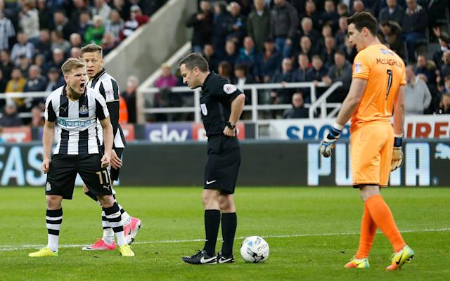 Newcastle United referee apologises for bizarre penalty decision