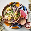 <p>The adobo sauce in a can of chipotles lends earthy heat to the crema that tops these bowls. Don't toss out the unused peppers! Freeze them in an airtight container and pull them out to add to sauces, marinades or chili.</p>