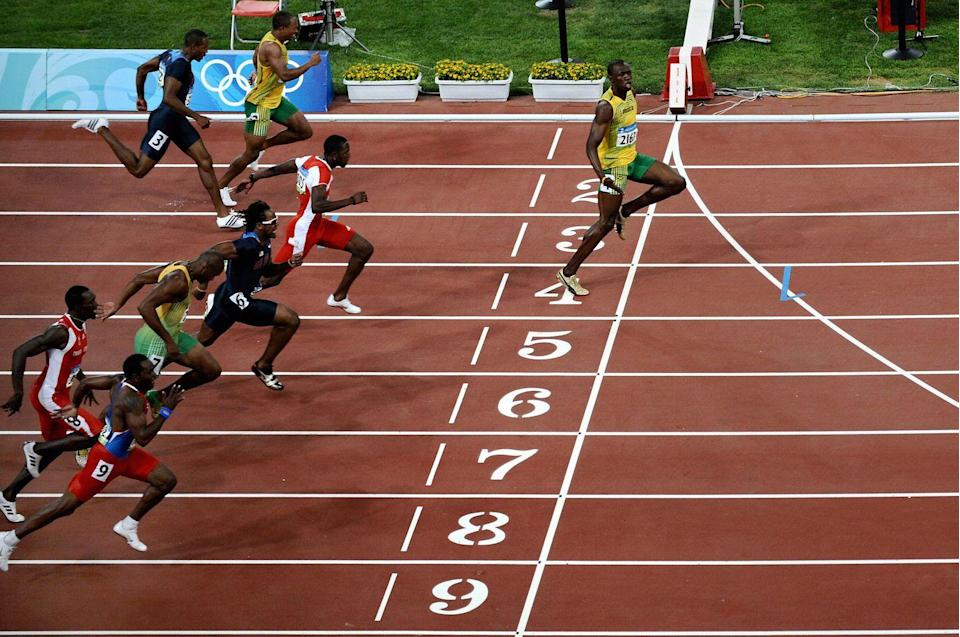<p>Usain Bolt thundered onto the Olympic podium in 2008, breaking the 200m dash Olympic record <em>and </em>100m dash world record. </p>