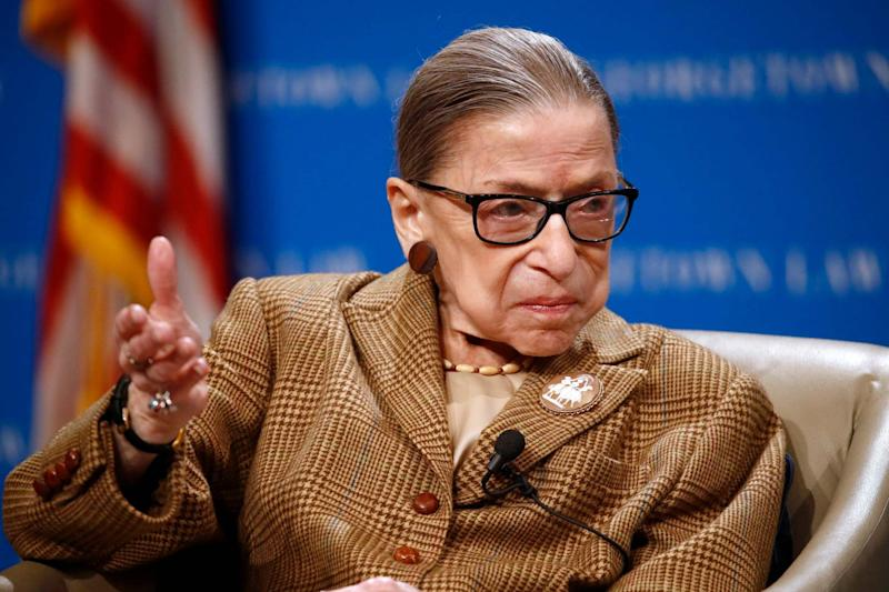 Supreme Court Justice Ruth Bader Ginsburg has died at her home in Washington aged 87: AP