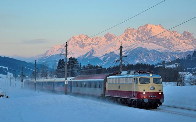 Train services, like the AlpenExpress, provide an alternative to flying to the mountains