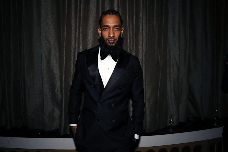 LOS ANGELES, CA - FEBRUARY 08: Nipsey Hussle attends Nipsey Hussle Grammy Celebration at The Peppermint Club on February 8, 2019 in Los Angeles, California. (Photo by Shareif Ziyadat/Getty Images)