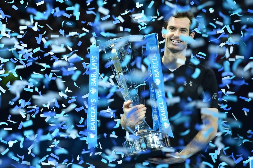 Andy Murray capped a memorable year in which he claimed his second Wimbledon and Olympic titles, deposed Novak Djokovic as world number one and became a father for the first time (AFP Photo/Glyn KIRK)